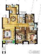 金地・翔悦天下3室2厅2卫115平方米户型图