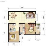 山海城邦・马街摩尔城2室2厅1卫156--160平方米户型图