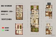 恒佳太阳城5室3厅5卫200平方米户型图