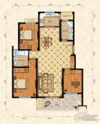 城南春天3室2厅2卫129平方米户型图