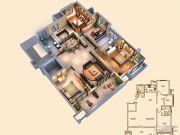 创源无想墅3室2厅2卫139平方米户型图
