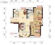 博大星光国际2室2厅1卫98平方米户型图