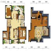 宝能水岸康城2室2厅1卫107平方米户型图
