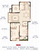 绿洲白马公馆3室2厅2卫127平方米户型图