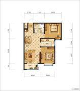 中交・香颂(廊坊)2室2厅1卫81平方米户型图