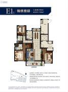 旭辉宝龙东湖城3室2厅2卫0平方米户型图