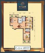 柳岸春城3室2厅2卫118平方米户型图