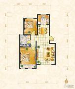 绿地・中央广场2室2厅1卫87平方米户型图