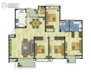 新加坡尚锦城4室2厅2卫155平方米户型图