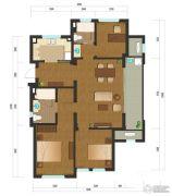 绿城乌镇雅园3室2厅1卫128平方米户型图