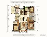 华润公元九里4室2厅3卫284平方米户型图