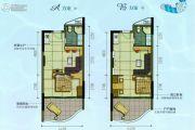 海韵华轩1室1厅1卫48平方米户型图