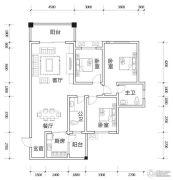 亿豪名园3室2厅2卫121平方米户型图