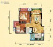 力帆翡翠华府2室2厅1卫70平方米户型图