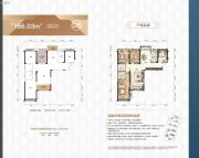天元广场4室2厅2卫166平方米户型图
