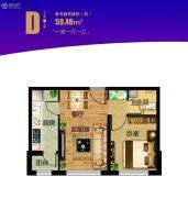 永泰城1室1厅1卫0平方米户型图