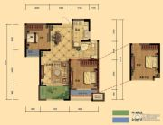 弘阳广场2室2厅1卫85平方米户型图