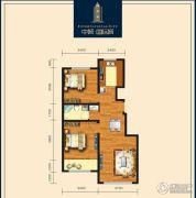 包头中城・国际城2室2厅1卫88平方米户型图