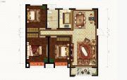 恒丰理想城3室2厅1卫120--121平方米户型图