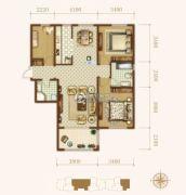 龙城帝景3室2厅2卫109平方米户型图