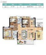 越秀滨海新城4室2厅2卫0平方米户型图