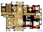 洛城中央御景4室2厅2卫214平方米户型图