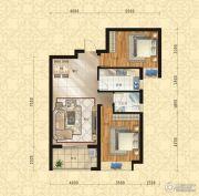 东方今典中央城2室2厅1卫99平方米户型图