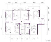 三祺・城光中心4室2厅2卫138平方米户型图