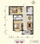 明瀚花香城2室2厅1卫88平方米户型图