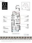 新城湾上风华4室2厅2卫0平方米户型图