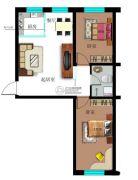 九元兴都2室1厅1卫72平方米户型图
