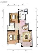 东岸名郡2室2厅1卫87平方米户型图