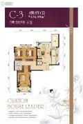 万豪世纪天街3室2厅1卫116平方米户型图