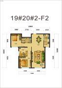 中海�鼎大观3室2厅1卫101平方米户型图