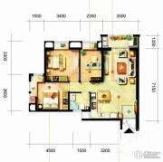 凯隆橙仕公馆2室1厅1卫84平方米户型图