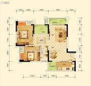 沱东印象3室2厅1卫89平方米户型图