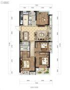 绿城华景川・之江明月4室2厅2卫110平方米户型图