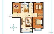 泰华・奥体花园3室2厅1卫125平方米户型图