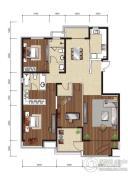 影人四季花园3室2厅2卫190平方米户型图