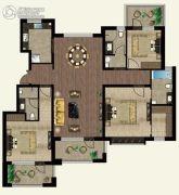 万合名著3室2厅3卫142平方米户型图
