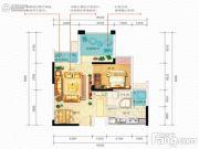 佳兆业滨江新城2室1厅1卫0平方米户型图
