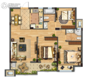 佳源都市3室2厅1卫0平方米户型图