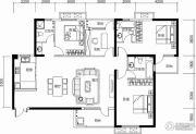 保利城4室2厅3卫171平方米户型图