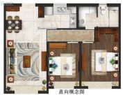 仁恒公园世纪2室2厅1卫0平方米户型图