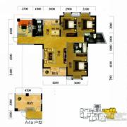 奥山世纪城3室2厅2卫133平方米户型图