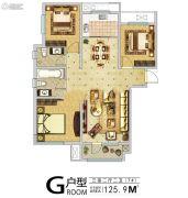 安联钓鱼台壹号3室2厅2卫0平方米户型图