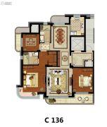 方远天韵水岸3室2厅2卫136平方米户型图