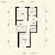 雍华御景2室2厅1卫68平方米户型图