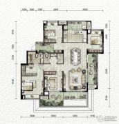 万科金色悦城4室2厅2卫127平方米户型图