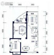 昌泰水立方2室2厅1卫76平方米户型图